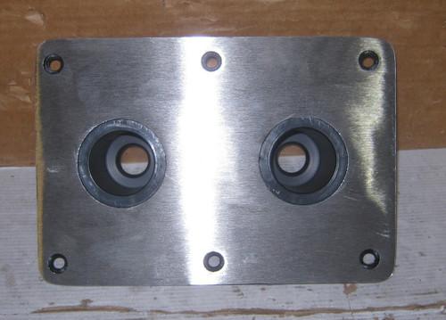 Spring-Lock Non-Locking Floor Base - Double Socket - Satin Finish