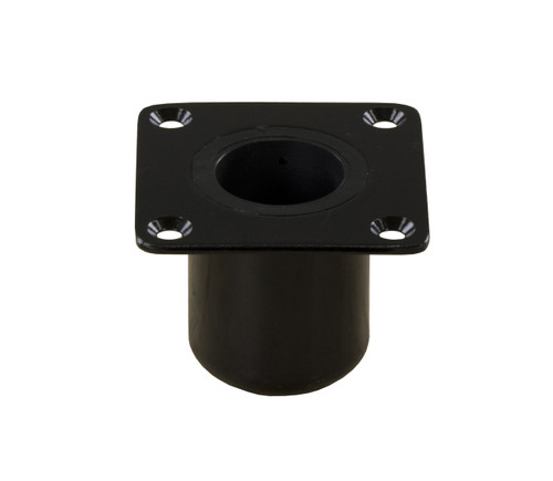 "Spring-Lock Square 4"" X 4"" Non-Locking Floor Base - E-Coated"