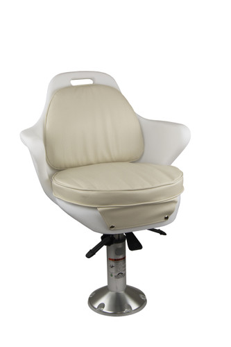 Bluewater Boat Seat Package - White Shell with Off-White Cushions