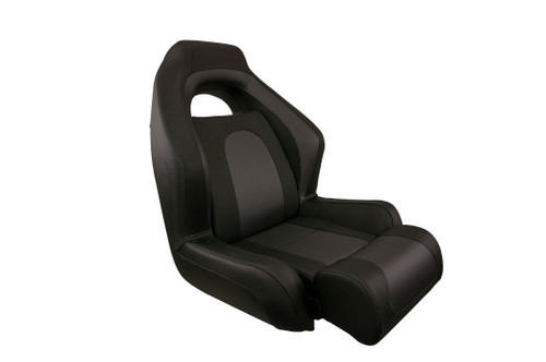 Ozark Chair with Bolster - Black & Charcoal