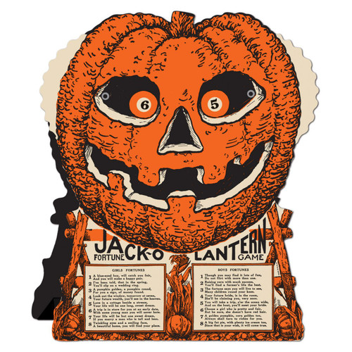 Vintage Halloween Jack'o Lantern Fortune Game from Beistle