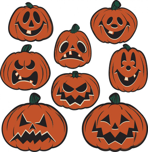 Vintage Pumpkin Cutouts from Beistle