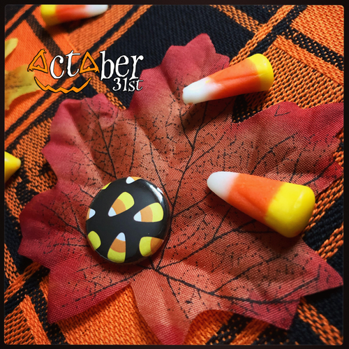 Candy Corn Halloween Badge