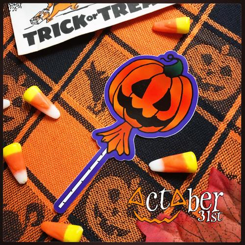 Pumpkin Lolly Sticker
