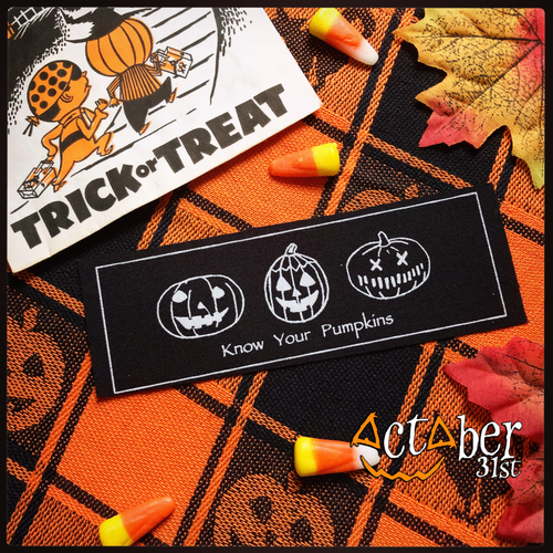 Know Your Pumpkins Stitch-on Patch