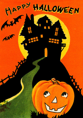 Haunted House Halloween Card