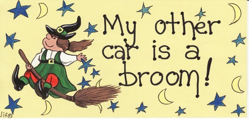My Other Car Is A Broom Hanging Sign