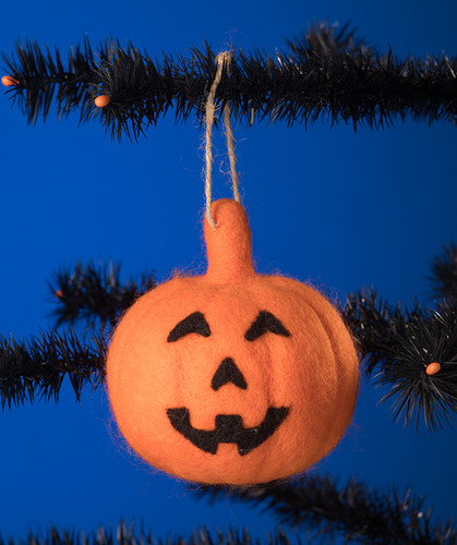 Large Felt Jack'O Lantern Hanging Decoration from Bethany Lowe Designs