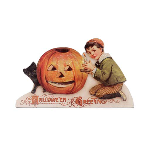 Halloween Greetings Pumpkin Dummy Board Decoration from Bethany Lowe Designs