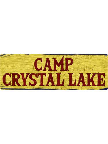 Camp Crystal Lake Tin Sign