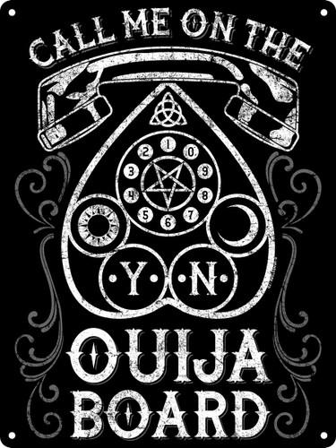 Call Me On The Ouija Board Tin Sign