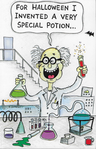 Invention Halloween Greeting Card