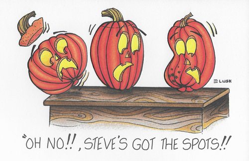 The Spots Halloween Greeting Card