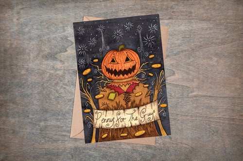 Penny For The Pumpkin Guy Card from Simons Nest