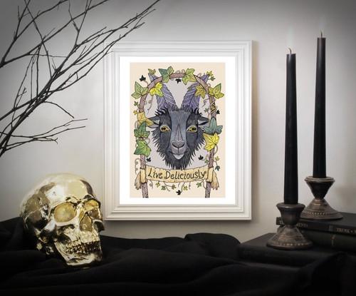 Black Phillip A4 Print From Simons Nest
