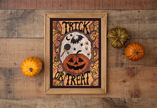 Trick or Treat A4 Print From Simons Nest