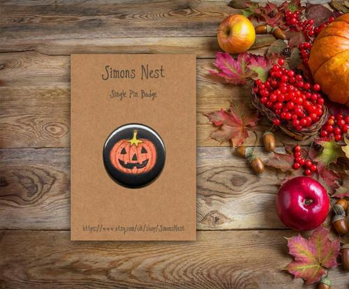 Jack'o Lantern Badge from Simons Nest