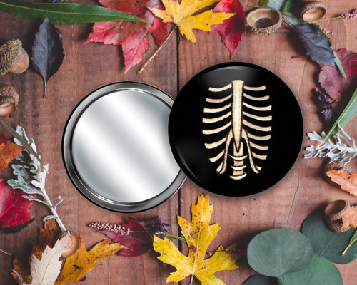 Skeleton Ribcage Pocket Mirror from Simons Nest