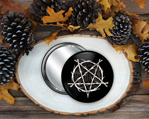Pentagram Pocket Mirror from Simons Nest