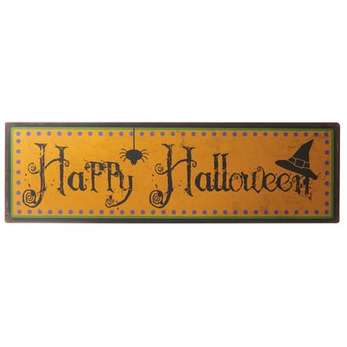 Large Happy Halloween Metal Sign