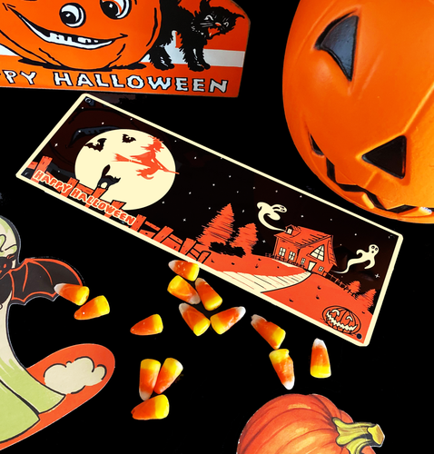 Happy Halloween Haunted House Tin Sign