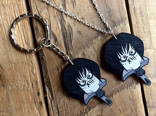 Billy Butcherson Wooden Keychain from Creepies