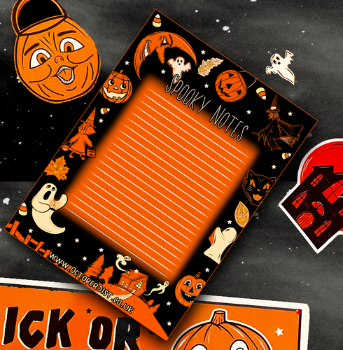 Spooky Notes A5 Notepad