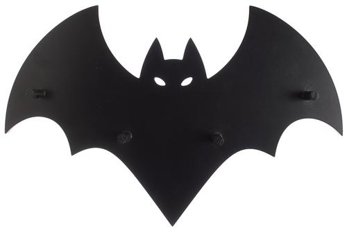 Black Bat Wall Hook Display From Sourpuss