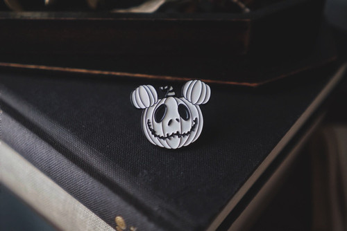 Jack Skellington Pumpkin Pin from Lively Ghosts