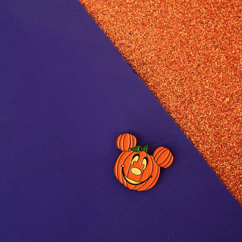 Pumpkin Mickey Pin from Lively Ghosts