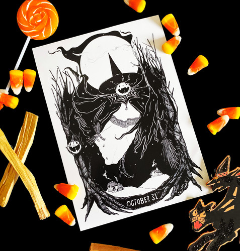 October 31st Exclusive Print from The Ghost Family Haunts