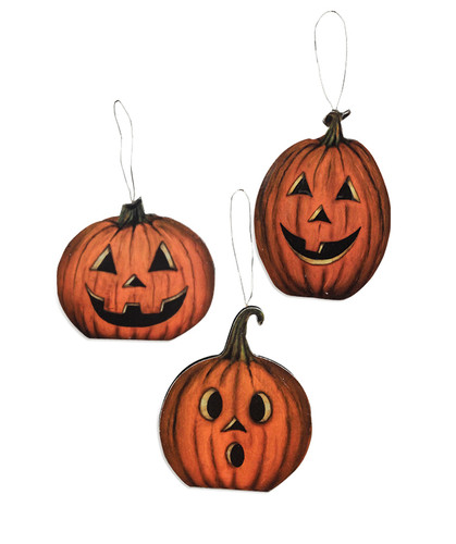 Hallows Eve Pumpkin Dummy Board Hanging Set from Bethany Lowe Designs