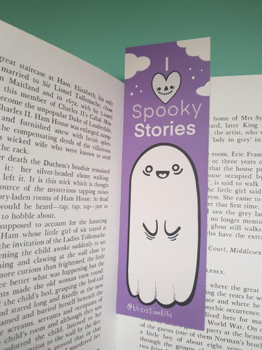 I Love Spooky Stories Bookmark from Sian Ellis