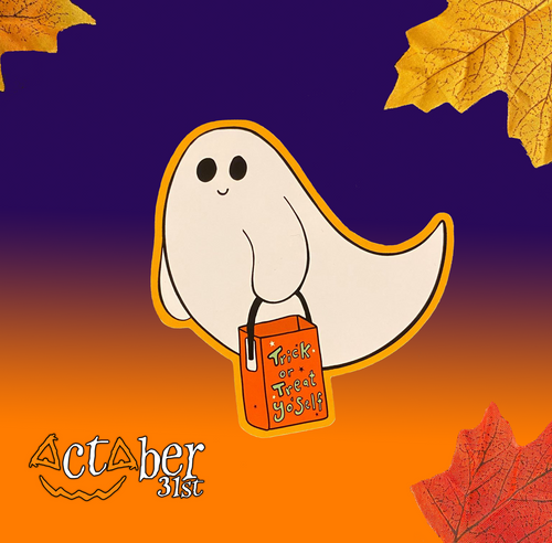 Trick or Treat Yo'self Ghost Sticker