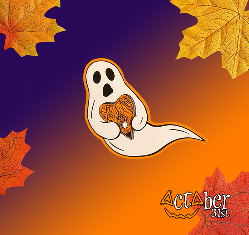 Ghost with Planchette Sticker