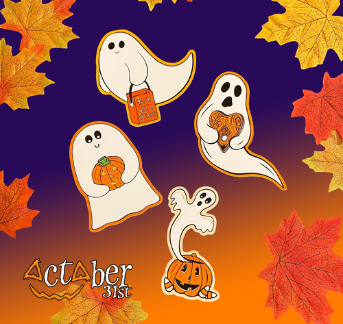 Set of 4 Ghostie Stickers