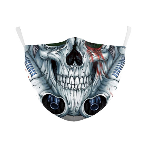 Mechanical Skull Reusable Face Mask