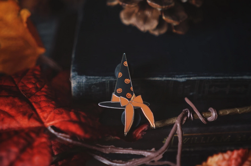 The Witch of Haunted Hallows Pin from Lively Ghosts