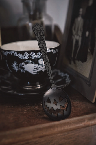 Haunted Halloween Black Tea Spoon from Lively Ghosts