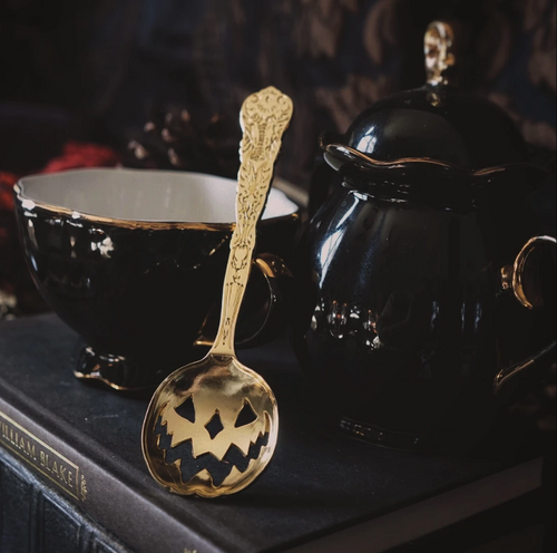 Haunted Halloween Gold Tea Spoon from Lively Ghosts