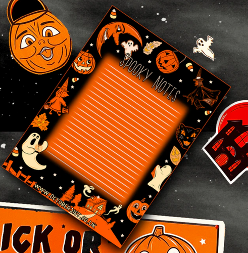 Spooky Notes A6 Notepad