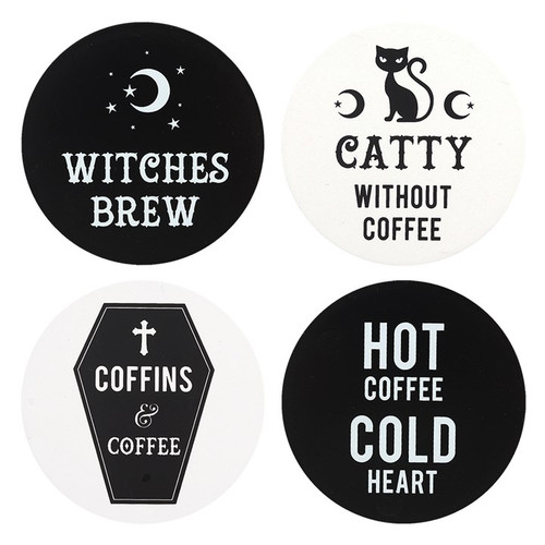 Witchy Coaster 1 of 4 Designs to Choose!