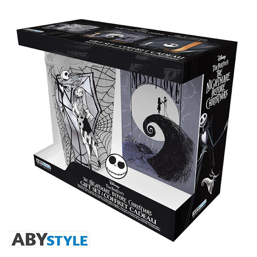 The Nightmare Before Christmas Glass, Pin and Notebook Giftset