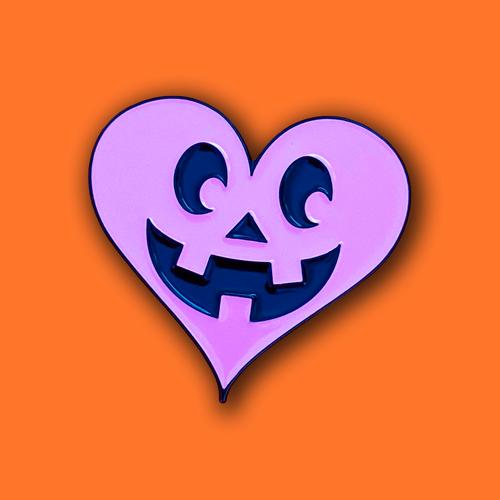 Pink Valoween Heart Jack Pin from Lil Pumpkin 1993 Studios