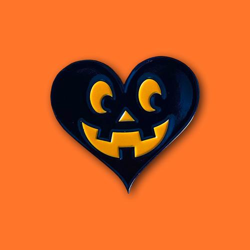 Black Valoween Heart Jack Pin from Lil Pumpkin 1993 Studios
