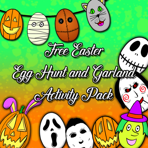 Free Halloween Themed Easter Egg Garland and Egg Hunt Activity Pack