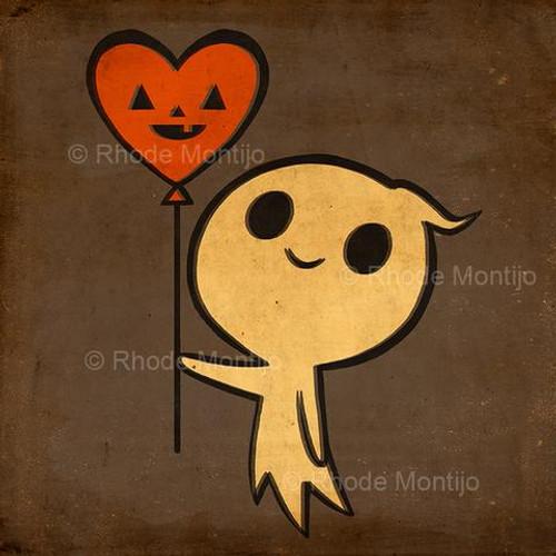 Balloon Ghost Print from Rhode Montijo