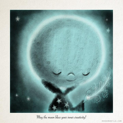 May The Moon Bless Your Inner Creativity Print from Rhode Montijo