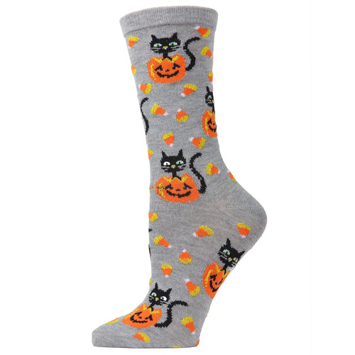 Candy Corn and Cat Socks