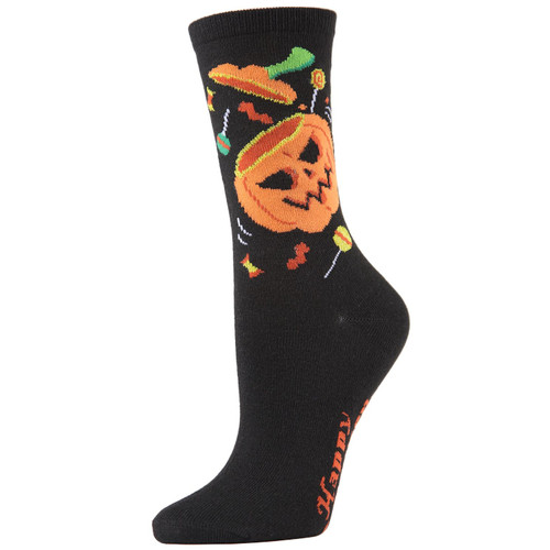 Pumpkin and Candy Socks